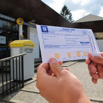 Mandat cash La Poste supprimé