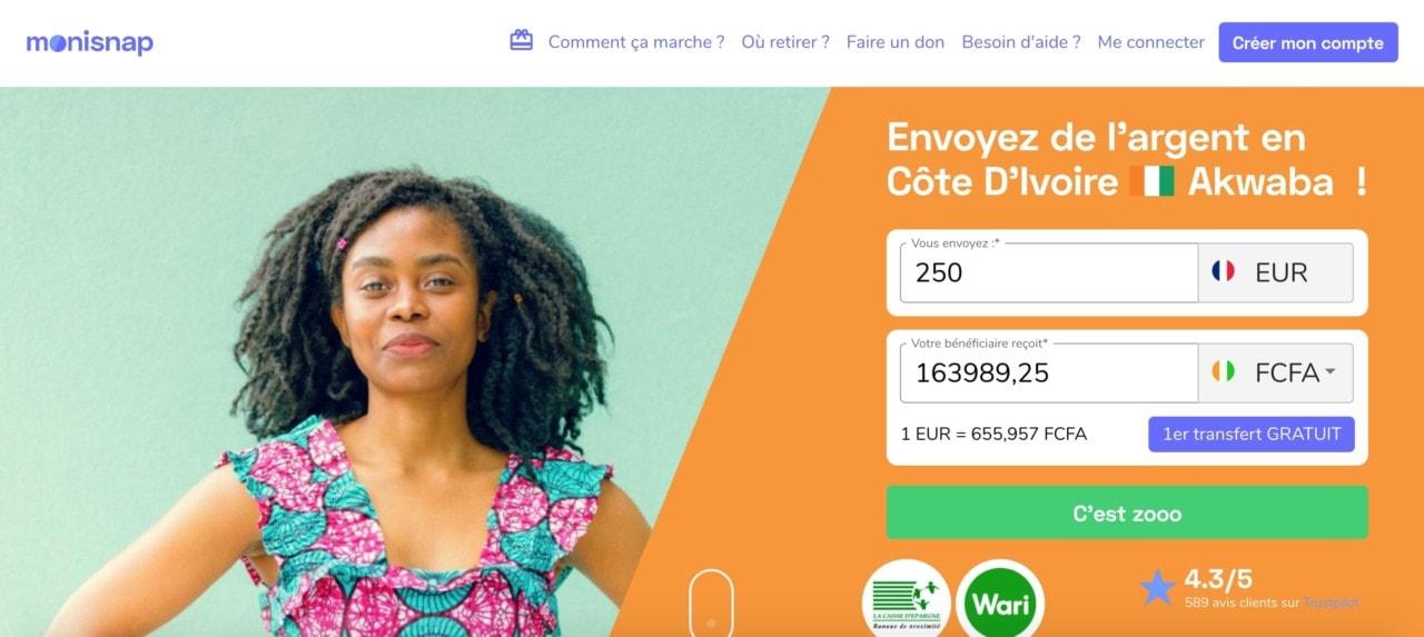 Transfert d'argent en Côte d'Ivoire