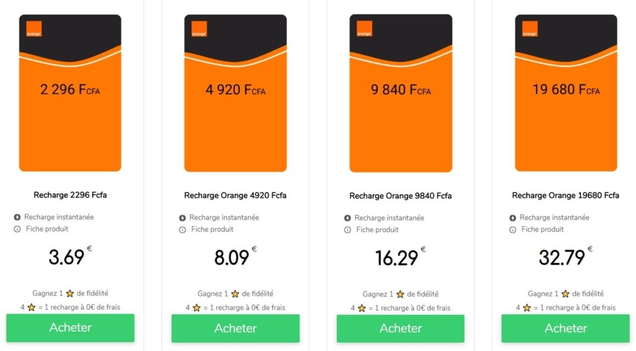 Orange Sénégal : forfaits